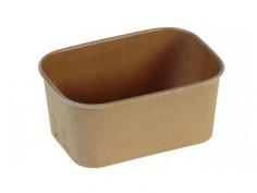 bowl rectangular kraft/PLA...